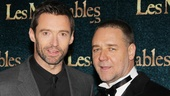 Les Miserables London premiere  Hugh Jackman  Russell Crowe