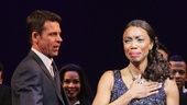 Heather Headley is overcome by emotion as she responds to the audiences applause.