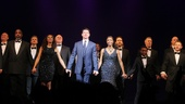 Lloyd Owen, Heather Headley and the cast of The Bodyguard step forward for their opening night curtain call. 