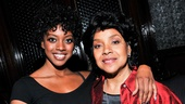 After the set, Condola is congratulated by her proud mom, Phylicia Rashad. Talent definitely runs in this family.