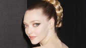 Meow! Amanda Seyfried (Cosette) takes the feline look to a fabulous new level in Alexander McQueen.