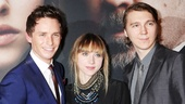 Les Miserables New York premiere  Eddie Redmayne  Zoe Kazan  Paul Dano