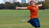 Alexandra Mora flies like a bird at Zilker Park. Check out that gorgeous view of the Austin skyline!