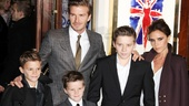 11 Viva Forever opening night  Romeo Beckham  David Beckham  Cruz Beckham  Brooklyn Beckham  Victoria Beckham 