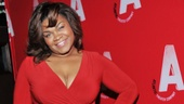 Lady in red! Tony nominee Da'Vine Joy Randolph stops the show in a gorgeous red dress.