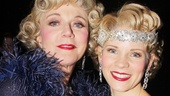 Broadway's most beautiful blondes, Blythe Danner and Kelli O'Hara, embrace backstage.