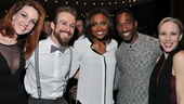 Cast members Bethany Moore, Colin Cunliffe, Patina Miller, Anthony Wayne and Charlotte dAmboise hang out at the party.