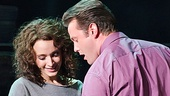 Emily Padgett as Alex and Matthew Hydzik as Nick in the national tour of Flashdance.