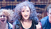 Emily Padgett as Alex and the cast of the national tour of Flashdance.