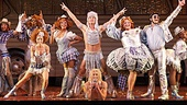 The cast of the national tour of Priscilla Queen of the Desert.