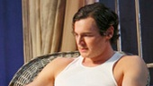 Ciaran Hinds as Big Daddy and Benjamin Walker as Brick in Cat on a Hot Tin Roof.