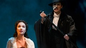 Sierra Boggess as Christine and Hugh Panaro as the Phantom in The Phantom of the Opera.
