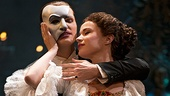 Hugh Panaro as the Phantom and Sierra Boggess as Christine in The Phantom of the Opera.