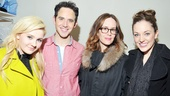 Cinderellas royal couple Santino Fontana and Laura Osnes welcome Broadway vets Abigail Breslin and Sarah Paulson to the Broadway Theatre.