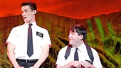 Mark Evans as Elder Price and Christopher John O'Neill as Elder Cunningham in the national tour of The Book of Mormon.