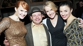 Lucky Danny Rutigliano! Fiorello!'s title star surrounds himself with his lovely leading ladies Kate Baldwin, Erin Dilly and Jenn Gambatese.