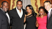 We love Audra! Phillip Boykin, Norm Lewis, LaChanze and Brian Stokes Mitchell rally around McDonald.