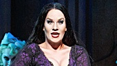 KeLeen Snowgren as Morticia in the national tour of The Addams Family.
