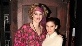 Still in costume as Miss Hannigan, Katie Finneran strikes a pose with Kate Mara.
