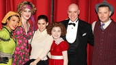Annie stars J. Elaine Marcos (Lily), Katie Finneran (Miss Hannigan), Lilla Crawford (Annie), Anthony Warlow (Daddy Warbucks) and Clarke Thorell (Rooster) welcome Kate Mara to Broadway.