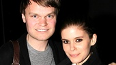 It's a family affair at Annie for actress Kate Mara and her brother, John Mara Jr.