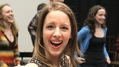 Carousel Rehearsal  Jessie Mueller (tray)