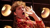 Ben Goddard as Jerry Lee Lewis in the national tour of Million Dollar Quartet.