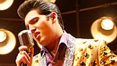 Cody Slaughter as Elvis Presley in the national tour of Million Dollar Quartet.