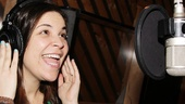 Always a pro, Dogfight star Lindsay Mendez nails another great take in the recording booth.