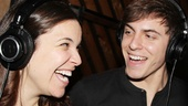 At their cast recording reunion, Mendez and Klena have a blast sharing the booth together!
