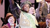 Phumzile Sojola as Lord Pinkleton and ensemble in Cinderella.