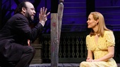 Danny Burstein as Matt Friedman and Sarah Paulson as Sally Talley in Talley's Folly.