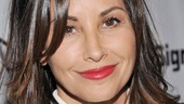 Stage and screen vet Gina Gershon is dressed to the nines on opening night of Old Hats.