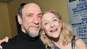 Stage and screen great F. Murray Abraham congratulates Laura Esterman on her performance.