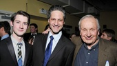 The Old Boy stars Chris Dwan and Peter Rini share an opening night photo with playwright A.R. Gurney.
