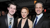 Company members Chris Dwan, Marsha Dietlein Bennett and Peter Rini are looking sharp at the opening night celebration.