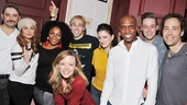 Rock of Ages stars Genson Blimline, Neka Zang, Theresa Stanley, Kate Rockwell, Joey Calveri, Tessa Alves, Andre Ward, Cody Scott Lancaster and Michael Minarik know how to party.