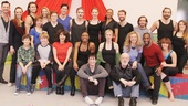 Picture perfect! The Broadway cast of Pippin takes a group portrait.
