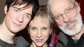 Matthew James Thomas, Charlotte d'Amboise and Terrence Mann take an adorable family photo.