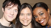After an acclaimed run at the American Repertory Theater in Cambridge, Diane Paulus (c.) is proud to direct Pippin stars Matthew James Thomas and Patina Miller on Broadway!