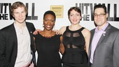 Hit the Wall co-stars Nick Bailey, Carolyn Michelle Smith, Rania Salem Manganaro and Matthew Greer ditch their 60s-inspired duds for a more formal opening night look.