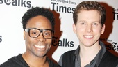 "Kinky Boots' headliners Billy Porter and Stark Sands flash us big smiles before taking the stage to perform Lauper's beautiful duet,  ""I'm Not My Father's Son."""