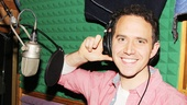 Cinderellas charming Prince, Santino Fontana, looks quite at home inside the recording booth.
