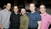 Will Swenson, David Pittu, choreographer Joshua Bergasse, Adam Monley and musical director Rob Berman look super nice at the closing party for Encores! Superman. 