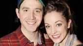 Cinderella headliners Santino Fontana and Laura Osnes show off the beautifully decorated Magnolia cupcake. 