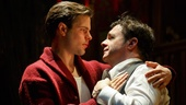 Jonny Orsini as Ned and Nathan Lane as Chauncey Miles in The Nance.