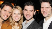 So much talent in one photo! Far From Heaven star Steven Pasquale, The Glass Menagerie alum Celia Keenan-Bolger, Adam Kantor and If/Then composer Tom Kitt hang out at the party.