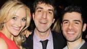 We did it! Betsy Wolfe (Cathy), Jason Robert Brown (composer and director) and Adam Kantor (Jamie) snap a congratulatory photo.