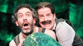 Kevin Del Aguila as Smee and Rick Holmes as Black Stache in Peter and the Starcatcher.
