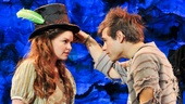 Nicole Lowrance as Molly and Jason Ralph as Boy in Peter and the Starcatcher.